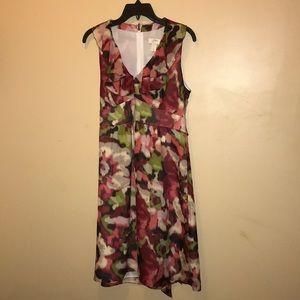 Ann Taylor LOFT Multicolored floral print Size 10
